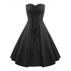 Robe bandeau grande taille -