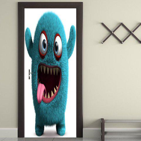 Fancy Gluttonous Monster Patterned Door Stickers