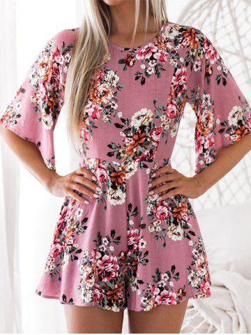 Chic Back Cut Out Floral Romper