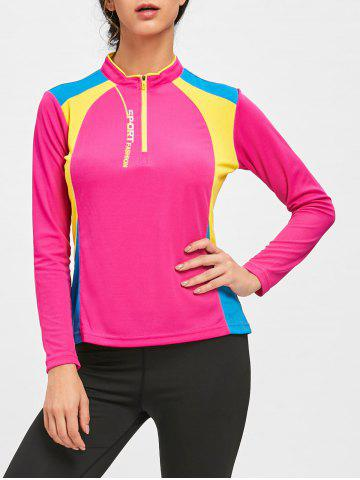 Sale Color Black Half Zip Cycling T-shirt