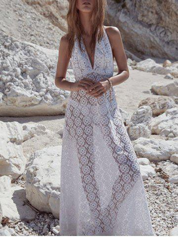 Online See Thru Lace Cover Up Dress