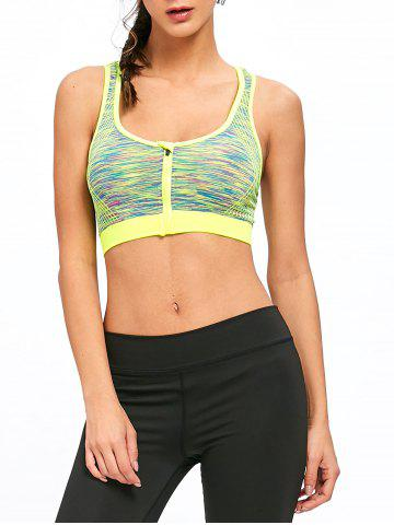 Buy Sports Marled Front Zip Bra