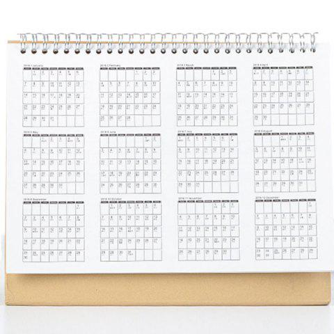 Calendario Blanco.Calendario Creativo Multiuso 2018 Calendario