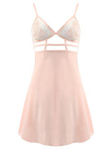 Unique Chiffon Straps Cut Out Cami Babydoll