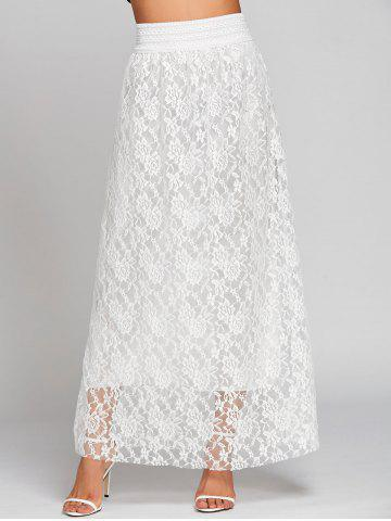 Sale Lace High Waist Maxi Skirt