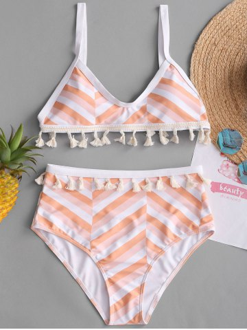 Shop Tassel Zigzag High Rise Bikini Set