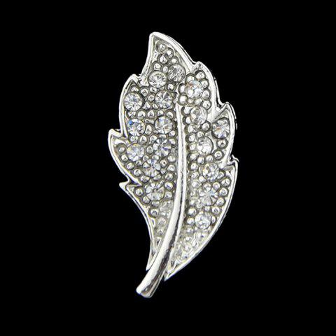 Store Faux Diamond Leaf Alloy Brooch