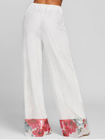 Floral Lace High Rise Palazzo Pants
