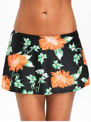 Flower Pattern Swimming Skirt -