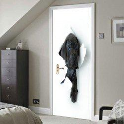 3D Hole View Vivid Dog Door Stickers -