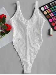 Valentine Lace High Cut Lingerie  Bodysuit -