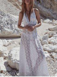See Thru Lace Cover Up Dress -