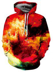Kangaroo Pocket Pullover Burning Clouds Hoodie -