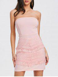 Crochet Insert Bow Bandeau Dress -