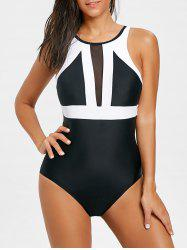 One Piece Two Tone Swimwear -