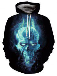 Kangaroo Pocket Magic Skull 3D Print Hoodie -
