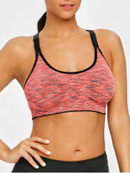 Cutout Adjustable Racerback Workout Bra -