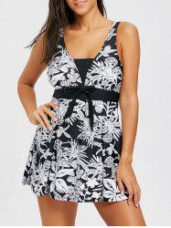 One Piece Flower Print Swimdress -