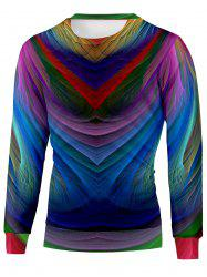 Colorful Crew Neck Sweatshirt -