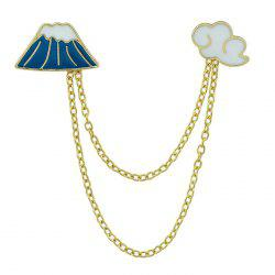 Cloud Mountain Design Chain Brooch -