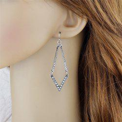 Geometric Faux Diamond Hook Dangle Earrings -