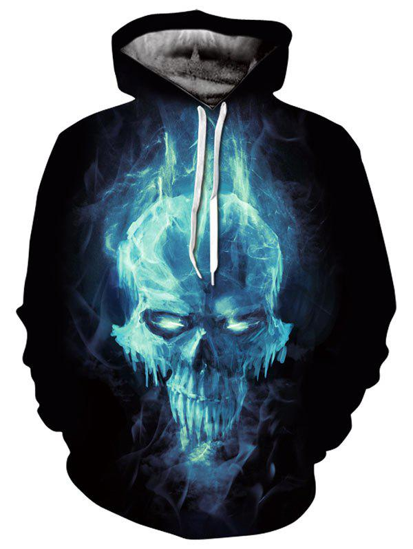 Shop Kangaroo Pocket Magic Skull 3D Print Hoodie