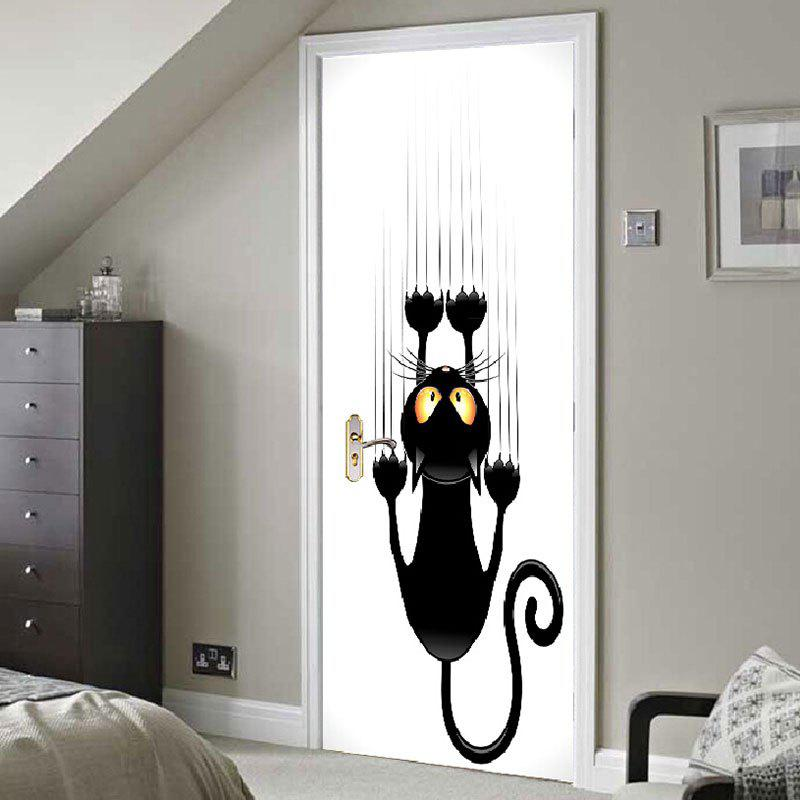 New Wall Climbing Cat Patterned Door Stickers