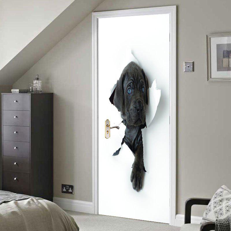 Discount 3D Hole View Vivid Dog Door Stickers