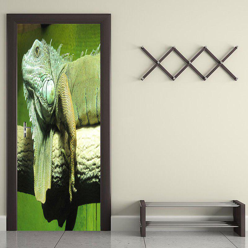 Affordable Environmental Chameleon Printed Removable Door Stickers
