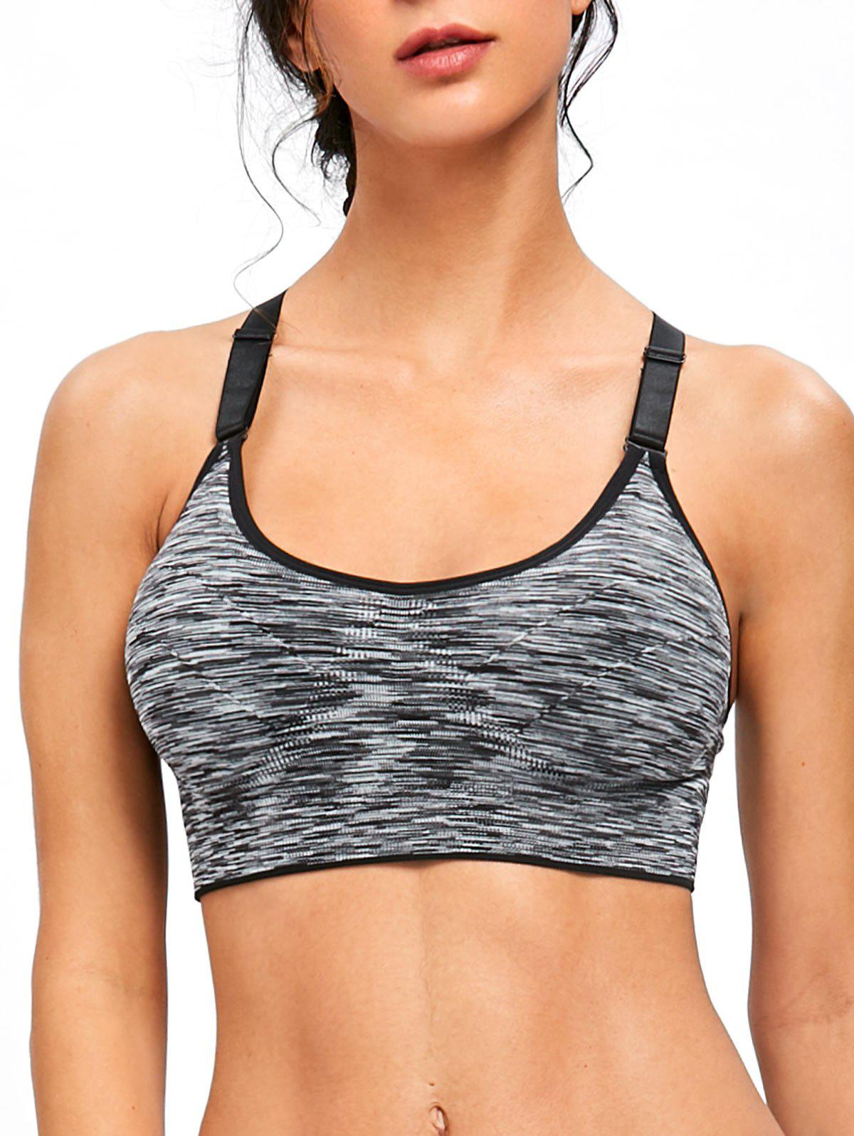 Hot Cutout Adjustable Racerback Workout Bra