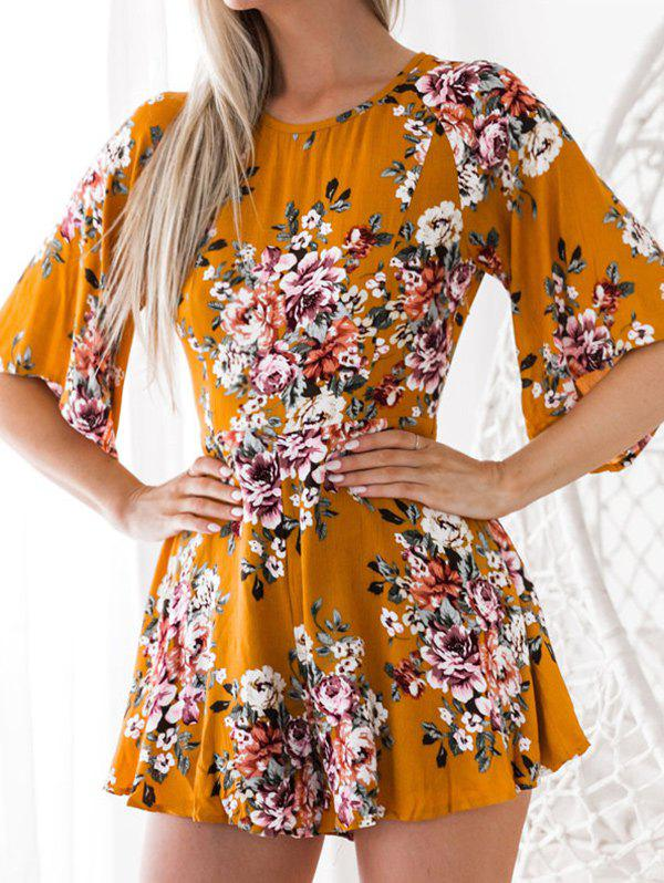 Discount Back Cut Out Floral Romper