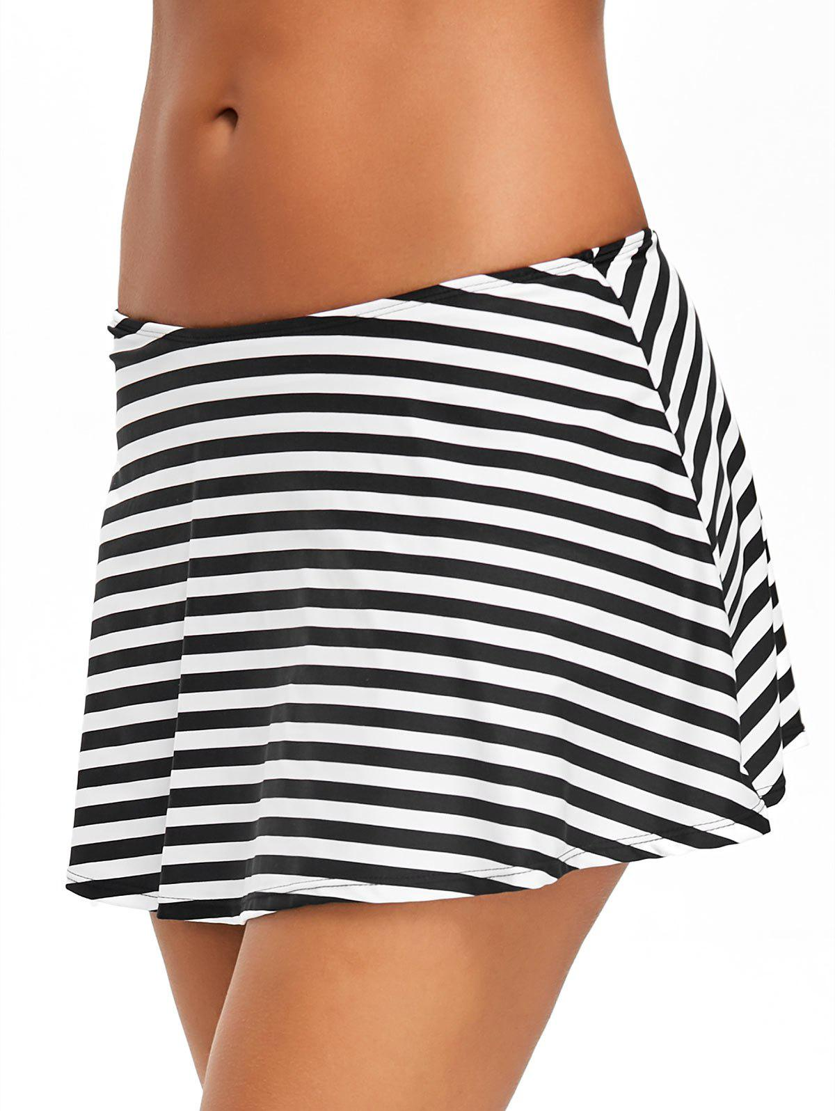 Hot Beach Stripe Swim Skirt