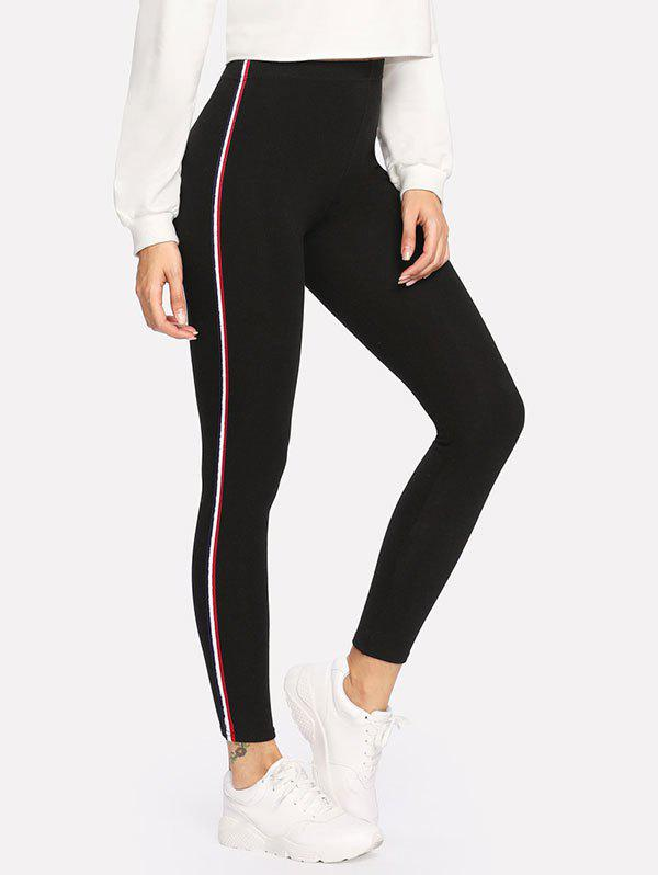 Online Sides Striped Leggings