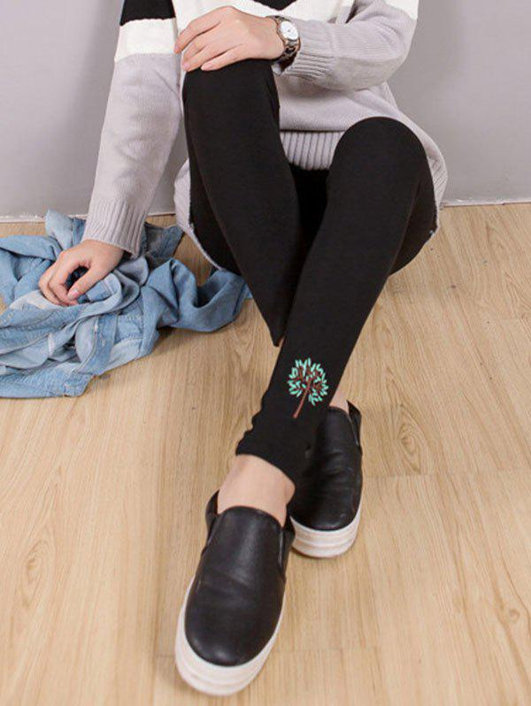Best Tree Embroidery Leggings
