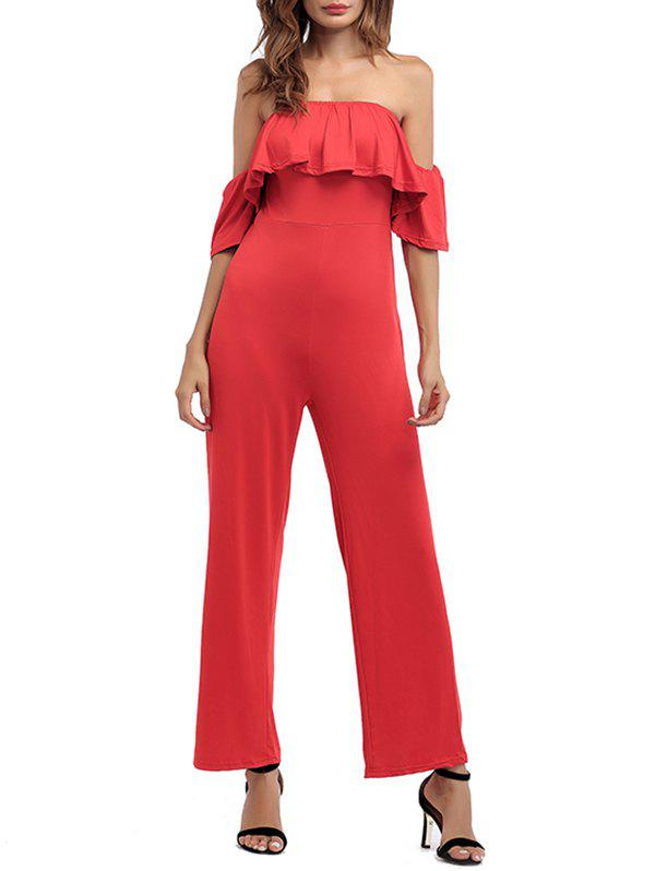 Affordable Off The Shoulder Backless Palazzo Jumpsuit