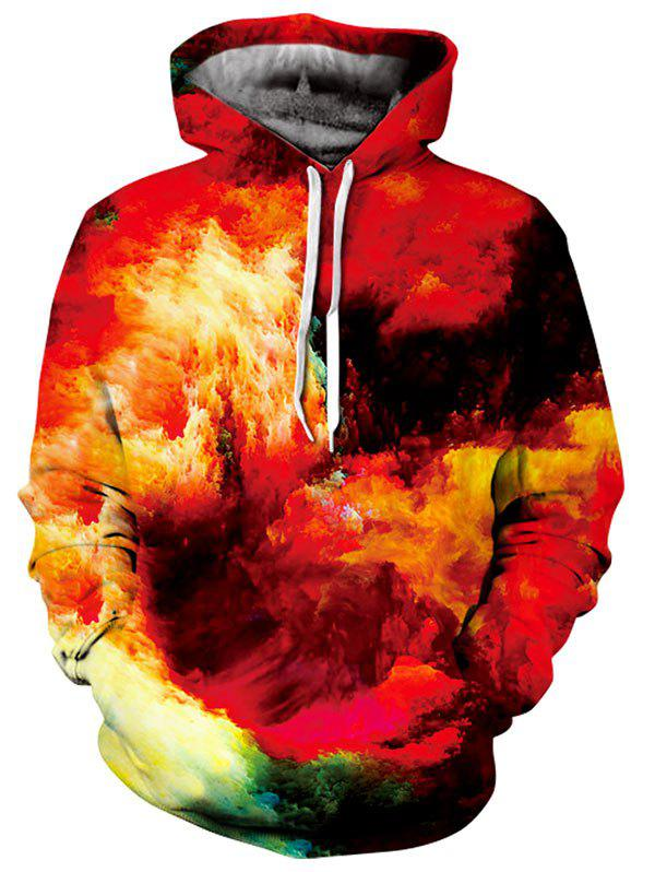 Unique Kangaroo Pocket Pullover Burning Clouds Hoodie