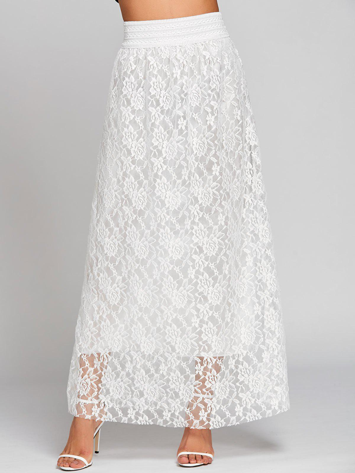 Shop Lace High Waist Maxi Skirt