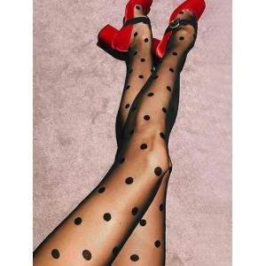 See Thru Polka Dot Tights -