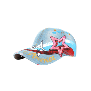 Unique Star Pattern Embellished Hand Drawing Baseball Hat -