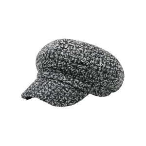 Vintage Checked Pattern Knitted Beret Hat -