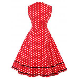 Плюс Размер Polka Dot Vintage Dress -