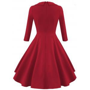 Empire Waist Vintage Fit and Flare Dress -