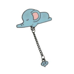 Cute Sleep Tiny Elephant Chain Brooch -
