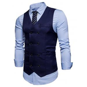 Slim Fit Double Breasted Waistcoat -