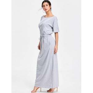 Drawstring Maxi Casual Dress -