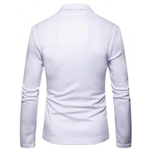 Single Breasted Lapel Collar Cotton Blend Blazer -