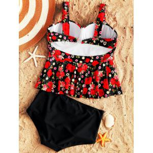 Moulded Underwire Floral Peplum Tankini Set -
