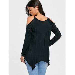 Open Shoulder Handkerchief Top -