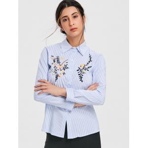 Long Sleeve Embroidered Shirt -