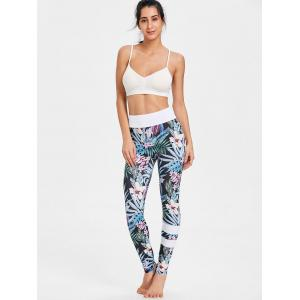 High Waist Tropical Floral Print Leggings -